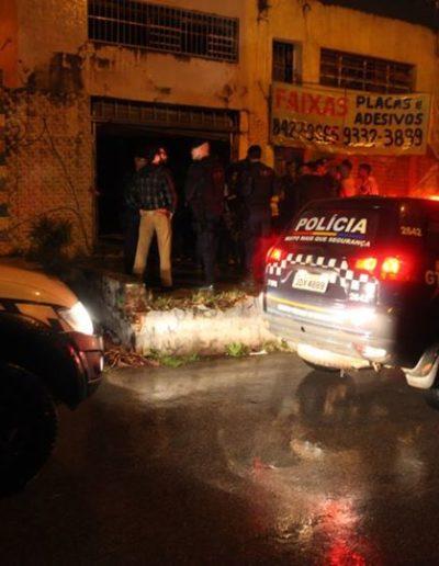 Polícia Militar no abrir das portas da ocupação MSV. Foto: arquivo MSV